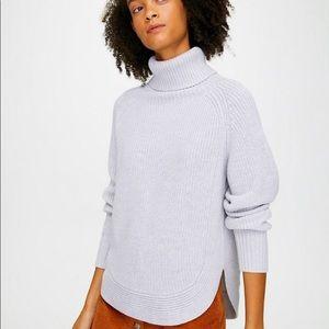 Aritzia Wilfred Free Asianna merino wool sweater gray size L style 63859